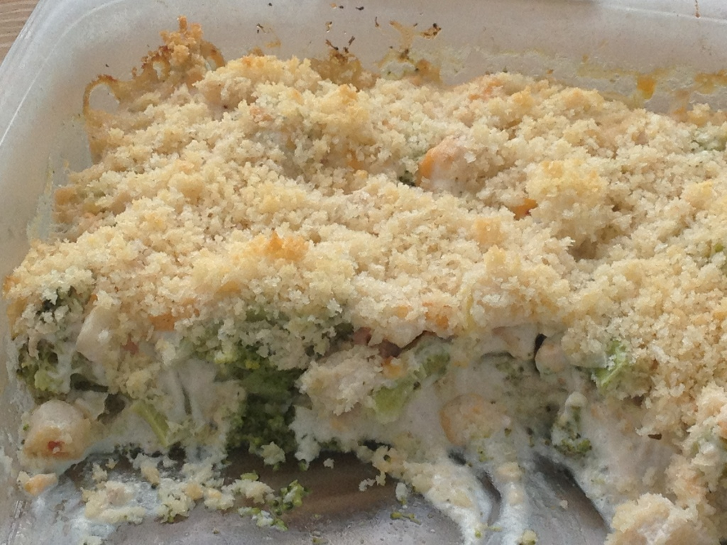 Zesty Broccoli and Water Chestnut Casserole